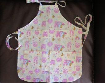 Child's Apron 100% Cotton Painting Crafting School Baking Pink Ballerina Print