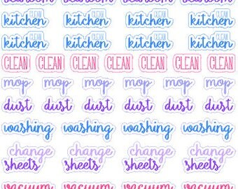 Cleaning Stickers // Happy Planner // Erin Condren // Personal // Diary