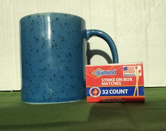 Vintage Blue Speckled Mug