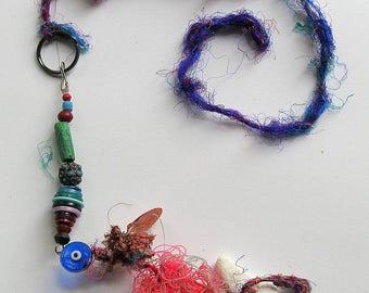 Vintage Amulet, Talisman, Moroccan, Spanish, Earth Sea Sky. Unusual. Folk Art