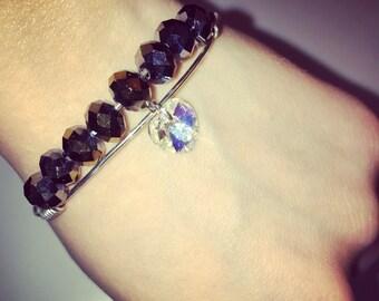 Shifting Heart Swavorski Crystal Bracelet