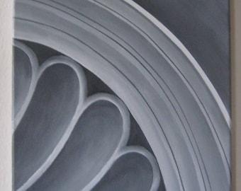 Original contemporary artwork, canvas acrylic art, black and white painting