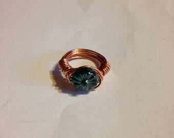 Flower bead ring