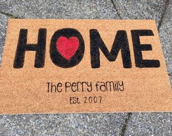 Personalized HOME Door Mat- OVERSIZED