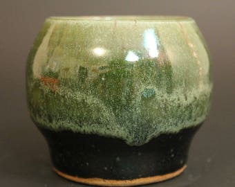Green and Black Small Container