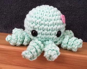 Mint Green Amigurumi Octopus