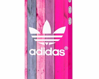 Sport Adidas wooden pink protective slim plastic case design for iPhone 5, 6, 7, Plus , Samsung S6, S7, Edge mobile phones
