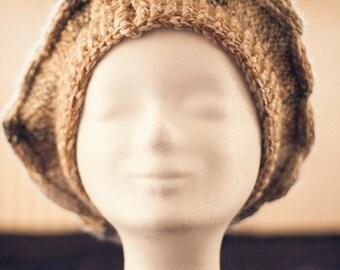 Knit Beanie Brown, grey, beige