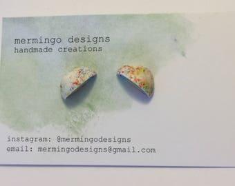 Polymer Clay Jawbreaker Gobstopper Stud Earrings