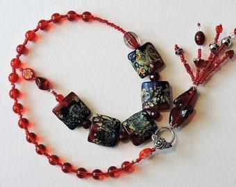 Red Baha'i Prayer Beads