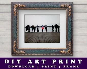 Photographic Art Print, Photographic Print, Hastings Pier, Scenic Art, Hastings Art Photograph, Michael Mischewski, Printable Photo Art