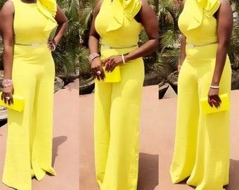 African print jumpsuit/ African jumpsuit/ African jumpers/ African jumpsuit for women/ African jumpers for women/ African jumpsuit outfit/