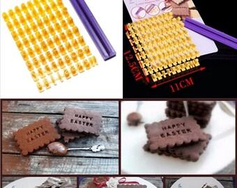 Alphabet Letter Cookie Stamp
