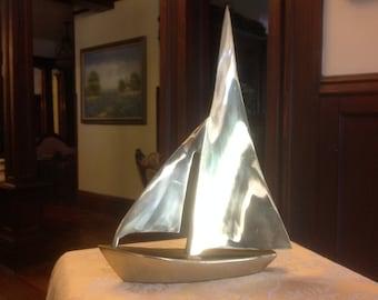 Brass sailboat