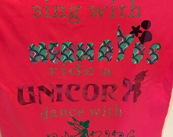 mermaids and unicorns girls tshirt