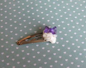Chantilly purple bow Barrette