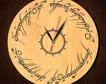 Lord of the Rings clock, Lord of the Rings wooden clock, HDF clock, acrylic clock, wall clock, wood clock, home decor, LR-2