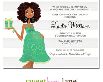 African American Baby Shower Invitation | Baby Girl Shower Invitation | Baby Shower Invite for Girls | Baby Shower Party Invite