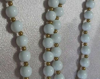 Monet white and gold beaded necklace 24inch