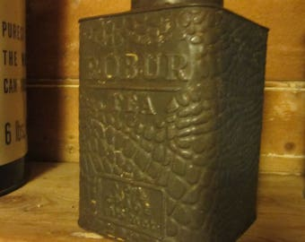 Antique Australian Robur Tea Tin 1910-1920