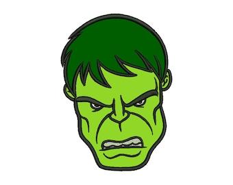 Hulk Applique Embroidery Design - 4 SIZES