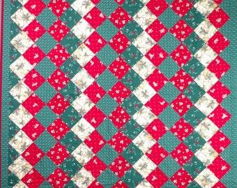 """Christmas lap quilt, 58""""x41"""""""