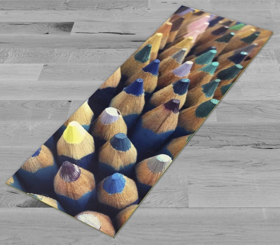 Funky Colored Pencils Yoga Mat by PimpMyYogaMats