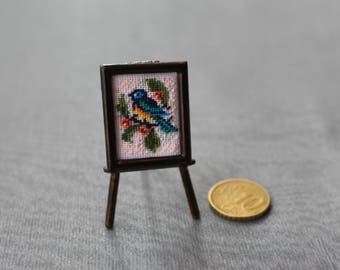 """Picture for a doll house """"Little bird"""" 18x25mm"""