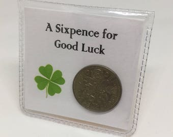Good Luck - Lucky Sixpence Keepsake