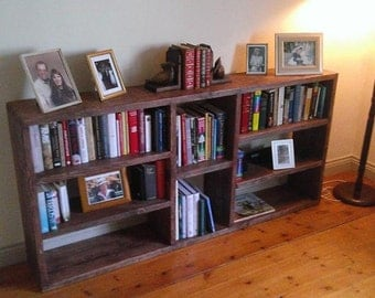 Bookcase Shelving Rustic Bespoke Shabby Chic Wood Reclaimed