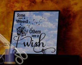 Dandelion Wish Wall Hanging