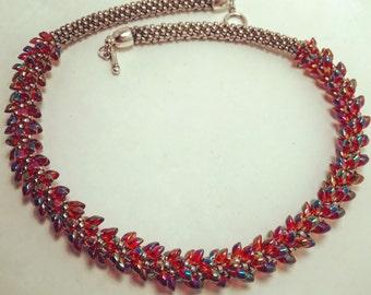 Rainbow Twist Necklace