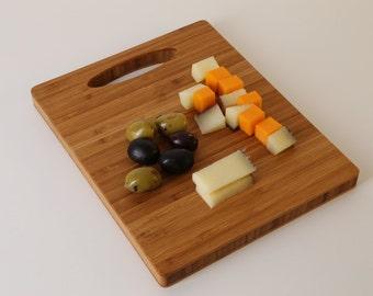 Bamboo Cutting Board, Bar Board, Butcher Block, Cheese Board, Picnic Board, Gift under 20