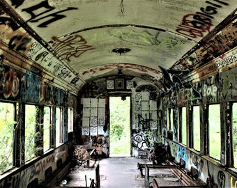 Abandoned in Lambertville, NJ - Fine Art - Photography - Limited Edition - Abandoned Train - New Jersey