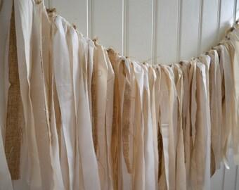 Rustic Garland, Shabby Chic Banner, Rustic Wedding Garland, Rustic Bridal Shower, Bridal Shower Decor, Bridal Shower Garland, Bridal Shower