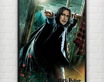Professor Severus Snape Harry Potter Hogwarts school of witghcraft and wizardry wallpaper decoration photo poster