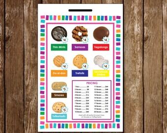 Girl Scout Cookie Lanyard - Printable | LBB 4.00 + 5.00