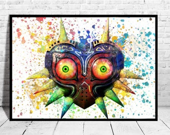 Majora's Mask Legend of Zelda Poster, Game Art, The legend of Zelda, Zelda Poster,AG157