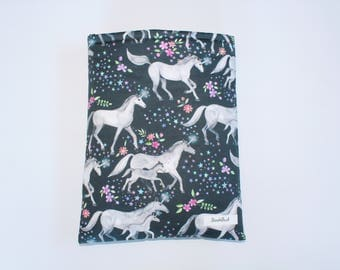 Designer BookBud Unicorn book sleeve