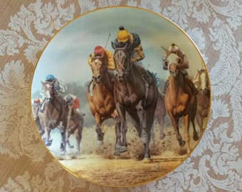 1986 American Artists Seattle Slew collectable plate