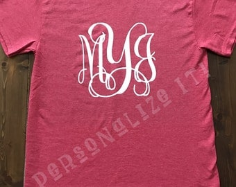Custom personalized Monogram T-Shirt Monogrammed