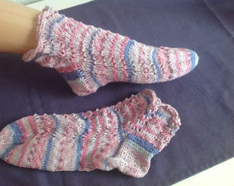 Socks Sneakersocken socks knitted handmade Gr. 38/39