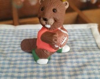 Hallmark Merry Miniature beaver with football