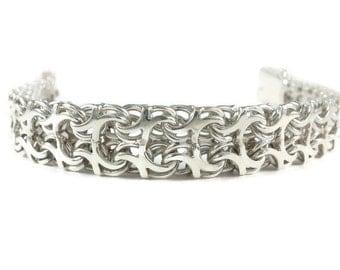 mens large bracelet, unique mens jewelry, massive bracelet, large mens bracelet, silver mens bracelet mens cuff bracelet Mens Chain Bracelet