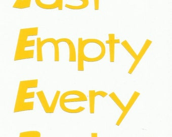 JEEP Just Empty Every Pocket Jeep Vinyl Vehicle Decal You Pick Color