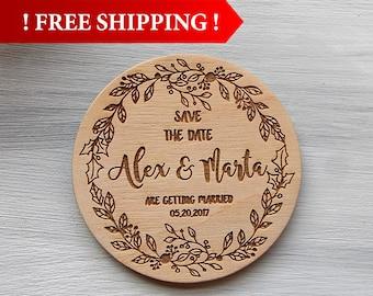 Free Shipping! Wedding Save the Date Magnet Wedding Invitation Custom Magnets Rustic Wedding Wedding Save the Date Wedding Invitation Set