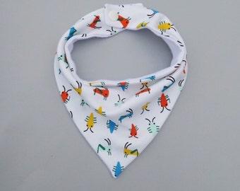 Bugs Life Bandana Bib, Organic Knit Pattern