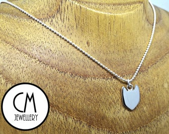 Sterling Silver Kitty Pendant