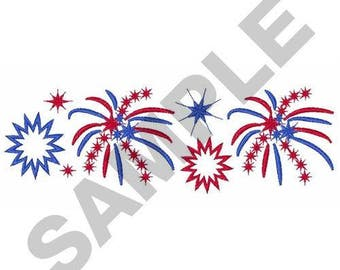 Fireworks Border - Machine Embroidery Design