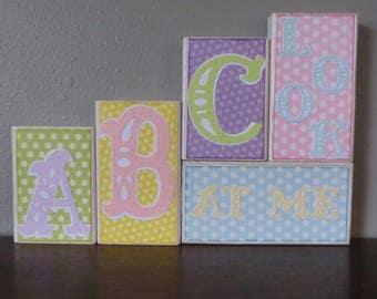 Baby Accents Cute Baby Nursery Decor ABC Blocks Word Blocks